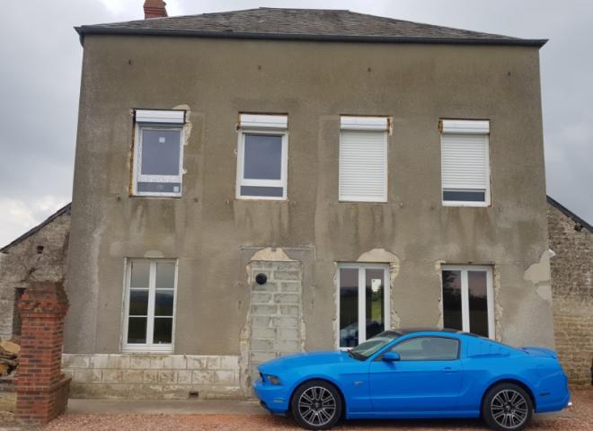 Rénovation à Bazoches au Houlme (10 min de Falaise) en Normandie